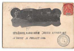 CPA Carte Photo Oubangui Chari Bangassou - Noirs Apportant L'impot Le 8 Juillet 1909 - Zentralafrik. Republik
