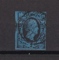 Sachsen - 1852/55 - Michel Nr. 7 - Gest. - 70 Euro - Saxe