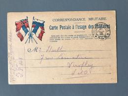 France - WW1 - CPFM - TAD Secteur Postal 148 - 21 Juin 1915 - (B1790) - Guerre De 1914-18