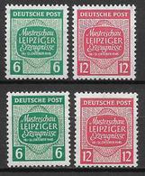 West Sachsen 1945 Mi. Nr.124x-125x/124Y-125Y - Zone Soviétique
