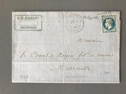 France N°29 Sur Lettre De Philippeville GC 5055 (Algérie) Pour Marseille - (B1792) - Marcophilie (Lettres)