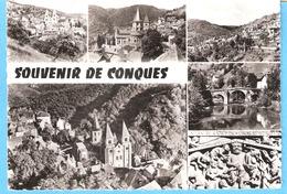 Conques (en Rouergue-Decazeville-Aveyron)-Multivues-Village-Eglise Abbatiale Sainte Foy (Tympan-détail)-Pont Roman - Decazeville