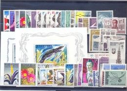 Jaargang 1965 Compleet Postgaaf ** MNH Met Blokken En Zegels Uit Blokken - Belgien