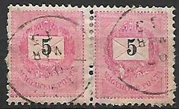 HONGRIE   -   1888 .   Y&T N° 26 Oblitérés En Paire - Hungría