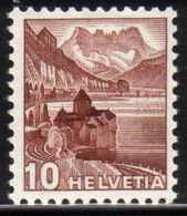 Zu 242z / Mi 363az / YT 348b Papier Gaufré **/MNH Voir Description - Schweiz