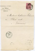 N°46 Obl. Sc BRUXELLES 5 Sur Lettre Manufacture De GANTS Vers Verviers (Station) - 15013 - 1884-1891 Léopold II