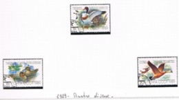 URSS - SG  6011.6013   - 1989 ANIMALS: DUCKS    (COMPLET SET OF 3)  - USED° - RIF. CP - Usati