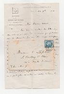Siège De Paris Une Des Dernière Lettre Sortie De Paris Timbre N° 29  Cachet Convoyeur Fomulaire De La CROIX ROUGE - 1870 Siège De Paris