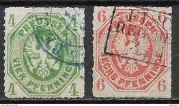 Prussia - Preussen 1861 Mi. Nr. 14a-15a - Preussen (Prussia)