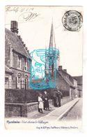 PK Rumbeke Roeselare - Dorpszicht, Hoogstraat & St.-Pieterskerk 1903 - Ed. A. & A. Feys (aan Zuss Meersseman Hooglede) - Roeselare