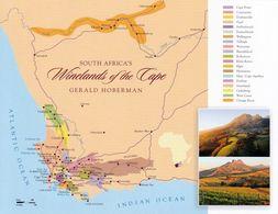 1 Map Of South Africa * 1 Ansichtskarte Mit Der Landkarte - Winelands Of The Cape * - Landkaarten