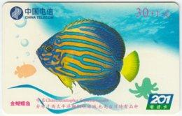 CHINA B-128 Prepaid ChinaTelecom - Painting, Animal, Sea Life, Fish - Used - China