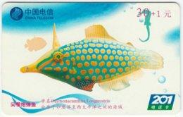 CHINA B-130 Prepaid ChinaTelecom - Painting, Animal, Sea Life, Fish - Used - China