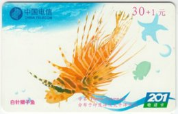 CHINA B-131 Prepaid ChinaTelecom - Painting, Animal, Sea Life, Fish - Used - China