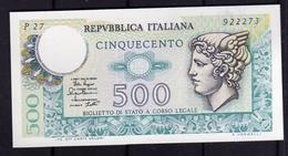 ITALIA REPUBBLICA 1979 2 /4 BANCONOTA DA LIRE 500 MERCURIO  ITALIE ITALIEN ITALY - [ 2] 1946-… : Repubblica