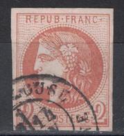 TIMBRE CERES BORDEAUX N° 40 OBLITÉRÉ De TRÈS BEL ASPECT Avec TEINTE VIVE + 4 MARGES RÉGULIÈRES + OBLITÉRATION CAD - 1870 Emission De Bordeaux