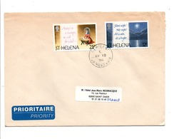 SAINTE HELENE AFFRANCHISSEMENT COMPOSE SUR LETTRE POUR LA FRANCE 1996 - Stamps
