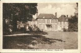 (COLTAINVILLE )( 28 EURE ET LOIR  ) ( CHATEAU ) FACADE SUD - France