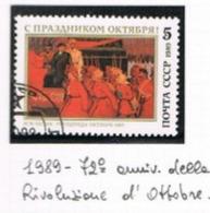 URSS - SG  6039   - 1989 OCTOBER REVOLUTION ANNIVERSARY   - USED° - RIF. CP - Usati