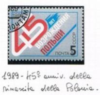 URSS - SG  6046   - 1989 POLAND LIBERATION ANNIVERSARY    - USED° - RIF. CP - Usati