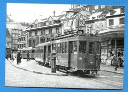 OLI099, Barfüsserplatz, Basel, 4.1.1968, Tramway, J. L. Rochaix, 173-181, SIG 1925, GF, Non Circulée - BS Basle-Town