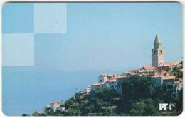 CROATIA C-957 Chip HT - View, Historic Town - Used - Kroatien