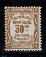 Taxe YV 46 N* (infime Infime Trace) Cote 14,50 Euros - 1859-1955 Nuevos