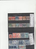TIMBRES DU DANEMARK  NEUF **MNH / OLITEREES  1875-82-1913 Nr VOIR SUR PAPIER AVEC TIMBRES  COTE 150.85  € - Nuovi