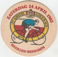 UNUSED BEERMAT - AMSTEL BIERE (AMSTERDAM, NETHERLANDS) - GOLD RACE - (1982) - Sous-bocks