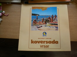 Nude Naturist Centar Koversada Vtsar Istra Yugoslavija - Dépliants Turistici