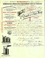 """Facture Decorative 1902 Cerdon ( Ain ) """" Edouard&Louis Main - Chaudronnerie,Tuyauterie,Orfevrerie,Lampes A Souder """" - France"""
