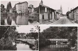 4 CPSM:MERLAUT (51) LE MOULIN,GRANDE RUE ET ÉGLISE,PONT - France