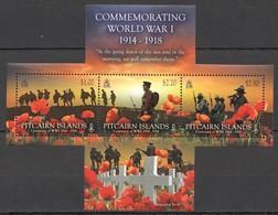 D279 PITCAIRN ISLANDS COMMEMORATING WORLD WAR I CENTENARY OF WWI !!! MICHEL 12 EURO !!! 1KB MNH - Prima Guerra Mondiale