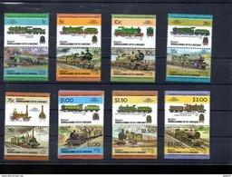 LES GRENADINES DE SAINT VINCENT DEPENDANCE DE BEQUIA  SERIE 20** SUR DES LOCOMOTIVES - Stamps