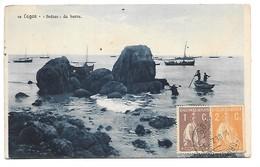 """Cpa...Portugal...Lagos....""""Pedras"""" Da Barra....animée....barques...1919.... - Portugal"""