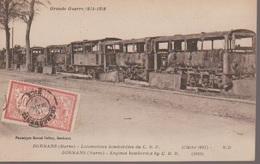 DORMANS - LA GARE LOCOMOTIVES DU C.B.R. BOMBARDEES - Dormans