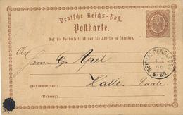 NEUHALDENSLEBEN  -  1874 , Ganzsache Nach Halle - Deutschland
