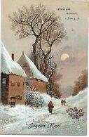 L170A059  - Joyeux Noël - Paysage Hivernal Enneigé Au Crépuscule - - Autres