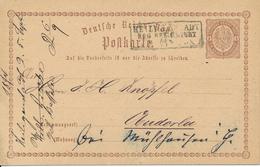 HEILIGENSTADT  -  1874 , Ganzsache Nach Oberdorla - Deutschland