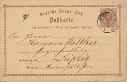 SCHWÖNKAU / Leipzig   -  1873  , Ganzsache Nach Leipzig - Deutschland