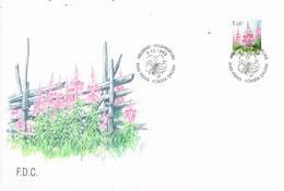 35363. Carta F.D.C. HELSINKI (Finlandia) 1992. Flowers, Bee.  Flores, Abeja - Finlandia
