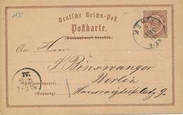 MEMEL / Kleipeda / Litauen   -  1875  , Ganzsache Rückantwort Nach Berlin - Deutschland