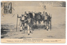 Cpa...Portugal...Touradas Portuguezas...bandarilhas...animée...1912.... - Portugal