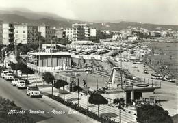 """6350 """"ALBISOLA MARINA-NUOVO LIDO""""ANIMATA-FIAT 500,1100,600 E ALTRE '60 -CART. POST. OR. NON SPED. - Andere Steden"""