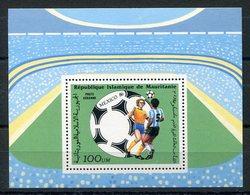 RC 15150 MAURITANIE COUPE DU MONDE DE FOOTBALL MEXICO 86 BLOC FEUILLET NEUF ** MNH TB - Niger (1960-...)