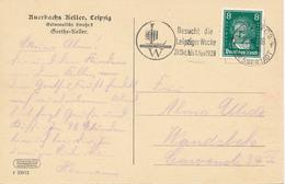 LEIPZIG   -  1928   , AK Auerbachs Keller , Werbestempel: Besucht Die Leipziger Woche ... - Deutschland
