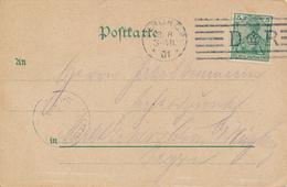 BERLIN  -  1901   , AK Unter Den Linden  ,Flaggenstempel:  D  Krone R  ... - Deutschland