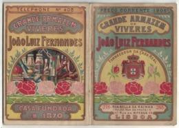 CALENDARIETTO PORTOGHESE 1906  Magazzino Alimentari J.L.Fernandez Rua Bella Da Rajnha Lisboa - Calendriers