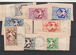 AEF Oblitéré - N° 183 A 190 Sur Fragment Date Lisible Nov 1943 - Gebraucht