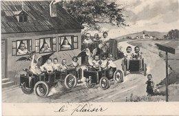 L170A064  - Grand Groupe De Bébés Dans Des Petits Wagons Avec Des Cigognes  - Carte Précurseur B.K.W.I Série N°705-4 - Neonati